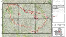 Mapa de la ampliación zona El Hito