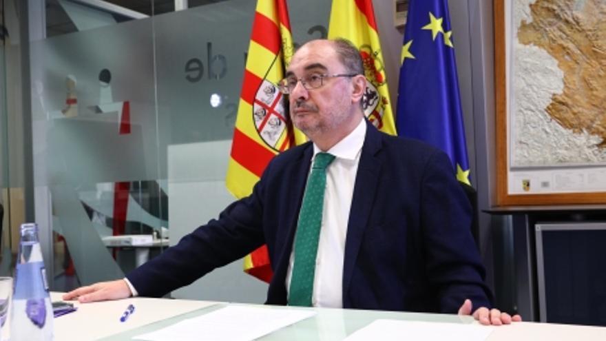 El Presidente de Aragón participa en la duodécima videoconferencia de presidentes autonómicos con Pedro Sánchez por el coronavirus