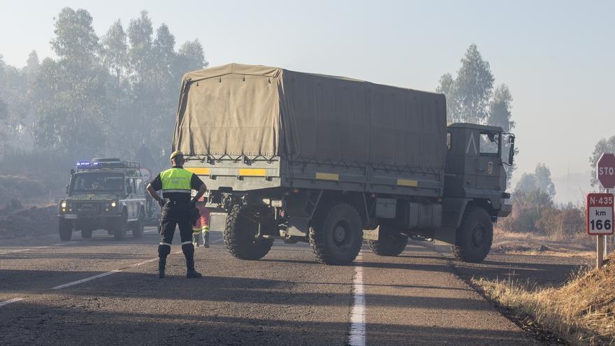 El Infoca da por extinguido el incendio forestal de Riotinto