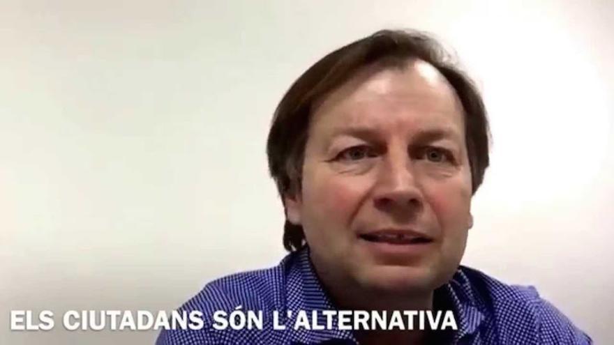 Isidor Mollà, concejal de Ciudadanos en Benissa, en un vídeo electoral