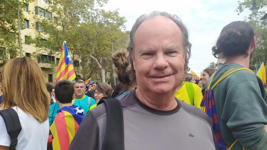 Ramon Pou, vecino de Barcelona de 66 años, también ha participado en las marchas