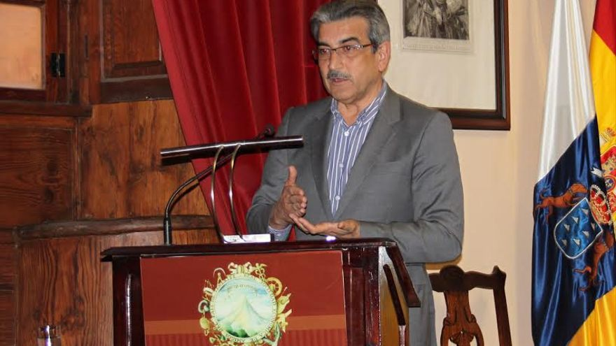 Román Rodríguez, en la Real Sociedad Económica de Amigos del País de Tenerife.