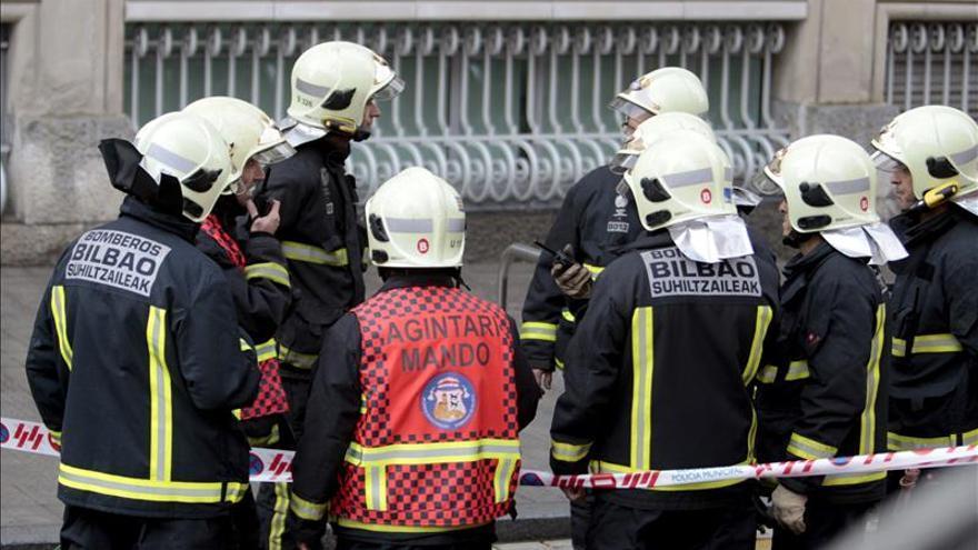 Bomberos de Bilbao, en una imagen de archivo