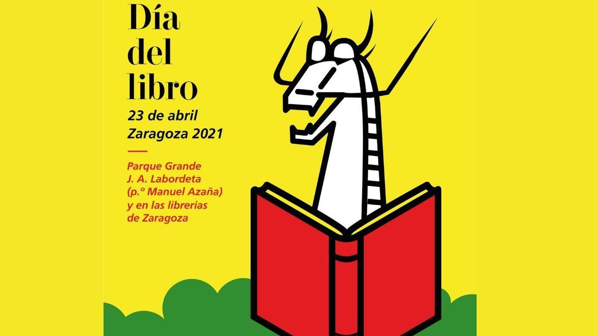 Cartel Día del Libro 2021 Zaragoza