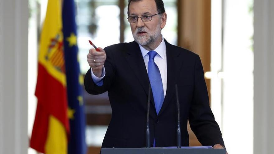 Mariano Rajoy durante su comparecencia en Moncloa
