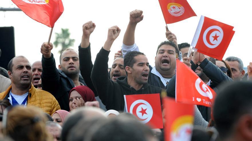 Huelga celebrada en Túnez el pasado 22 de noviembre en protesta por las medidas de auteridad y la crisis económica.