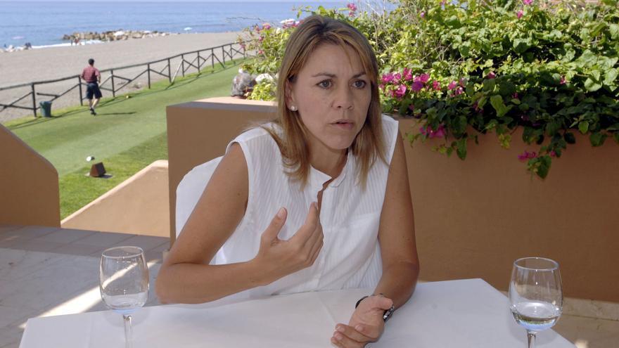 Cospedal, durante una entrevista con la agencia Efe en agosto de 2009 en Marbella.