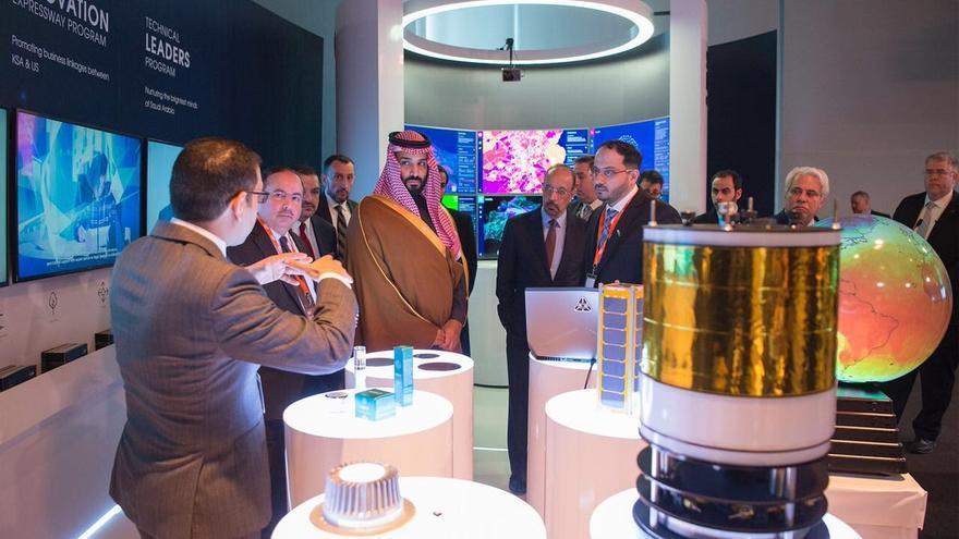 Mohamed bin Salmán durante su visita al Instituto Tecnológico de Massachusetts el pasado 25 de marzo. Twitter @SaudiEmbassyUSA