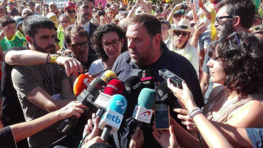 """Junqueras avisa a la Guardia Civil de que los que les piden detenciones carecen de """"honradez"""""""