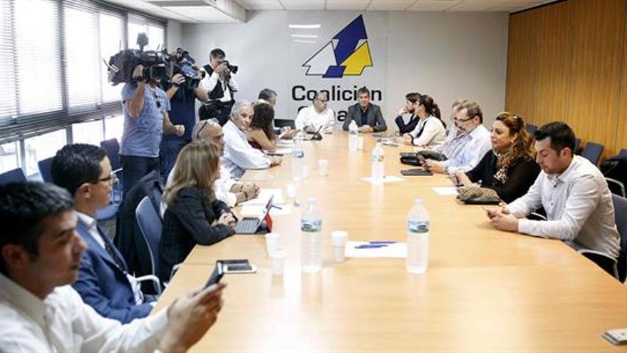 Reunión de Coalición Canaria