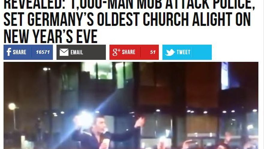 La policía alemana niega que miles de personas atacaran una iglesia de Dortmund durante la víspera de Año Nuevo