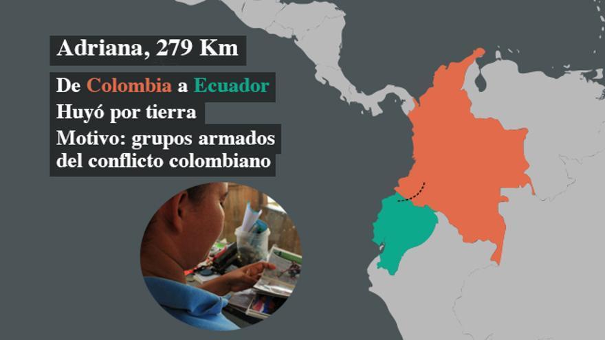 Adriana huyó a Ecuador por las amenazas que sufría de grupos de la guerrilla colombiana | FOTO: Jaime Giménez