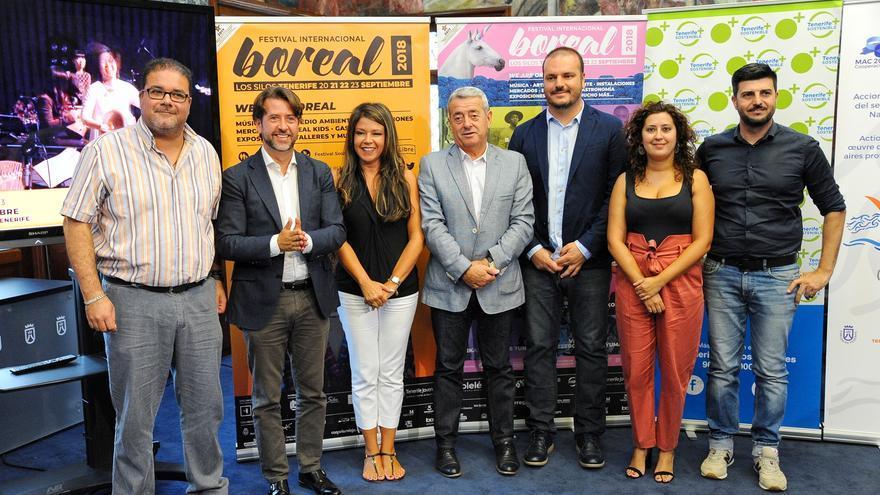 Participantes en la presentación del festival en la sede del Cabildo de Tenerife, este miércoles