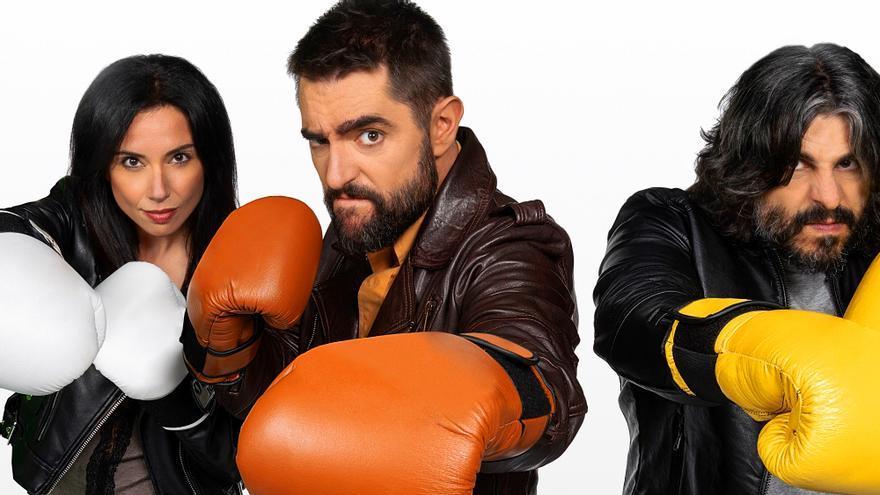 "Marta Flich, Dani Mateo y J.J. Vaquero posan para ""Roast Battle España"""