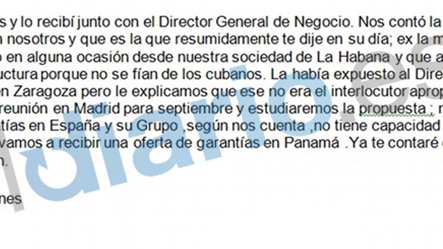 Unos meses después, la gestión aún sobrevive y Blesa vuelve a informar a Aznar.