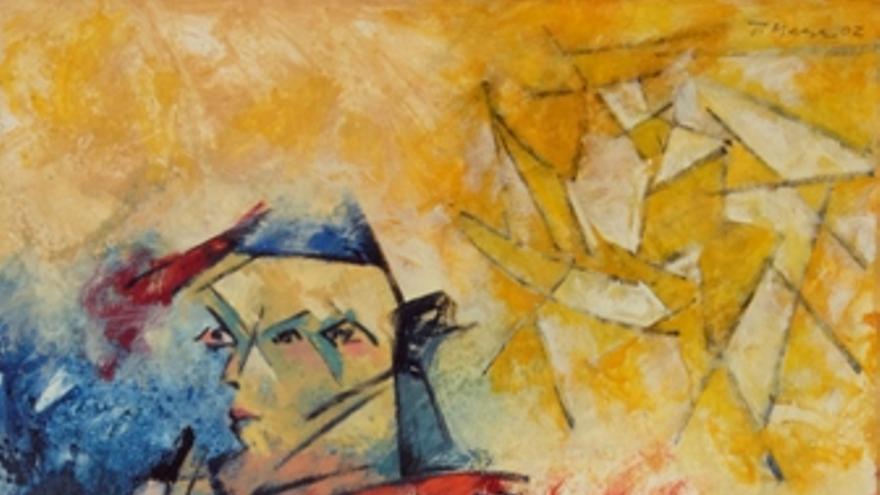 Pintura de Teo Mesa incluida en la exposición 'Sinergias'. (EUROPA PRESS)