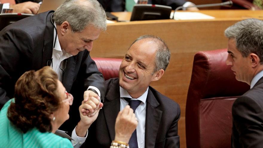 El expresidente de la Generalitat Francisco Camps con Alfonso Rus, Rita Barberá y Ricardo Costa