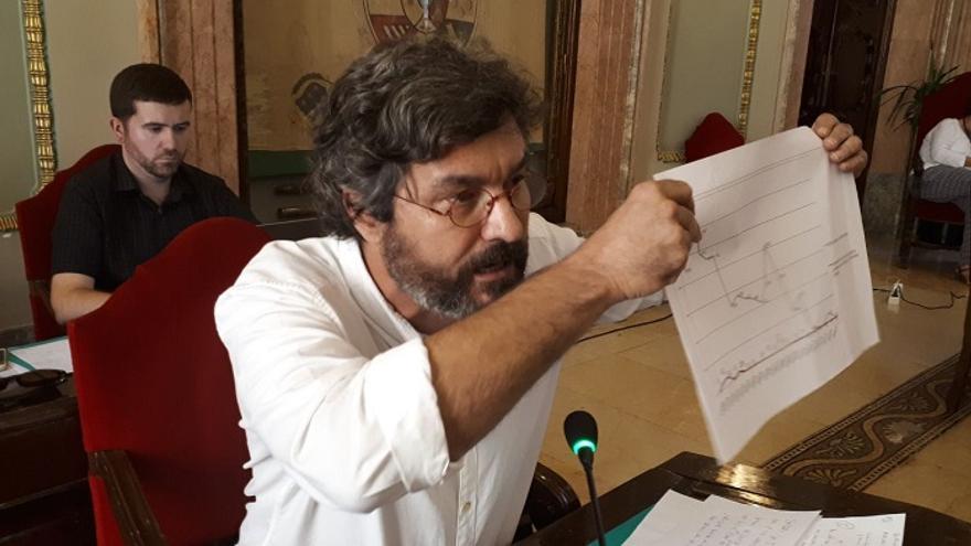 El concejal de Ahora Murcia, Miguel Alzamora