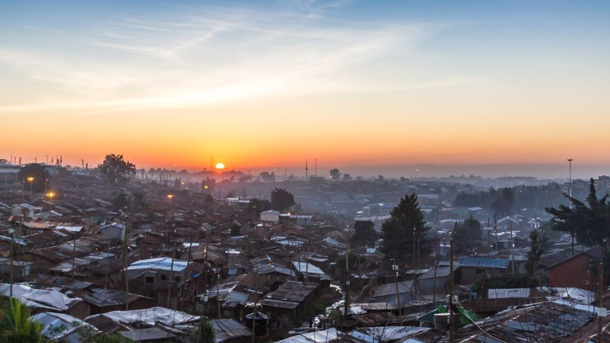 Amanecer en Kibera, del proyecto 'Kibera stories' del fotógrafo Brian Jaybe.