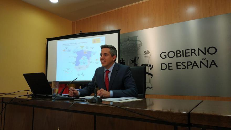 Pablo Zuloaga valorando en rueda de prensa los presupuestos del Estado para Cantabria.