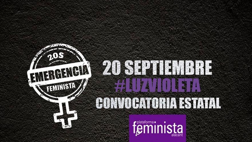 La Plataforma Feminista de Alicante impulsa la movilización.