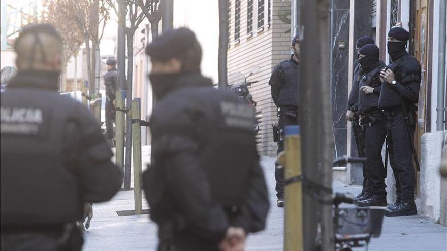 Mossos d'Esquadra en un operativo desplegado el pasado octubre contra anarquistas del barri de Sants