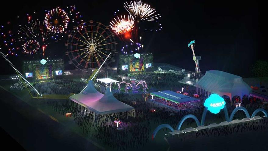 Recreación de la zona dedicada al festival en El Álamo /4every1.com