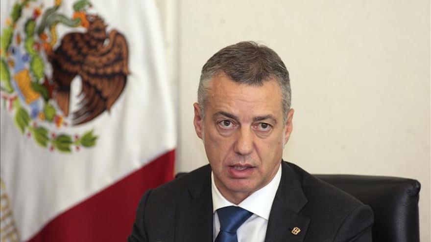 """Urkullu defiende crear una """"eurorregión"""" con Navarra y el País Vasco francés"""