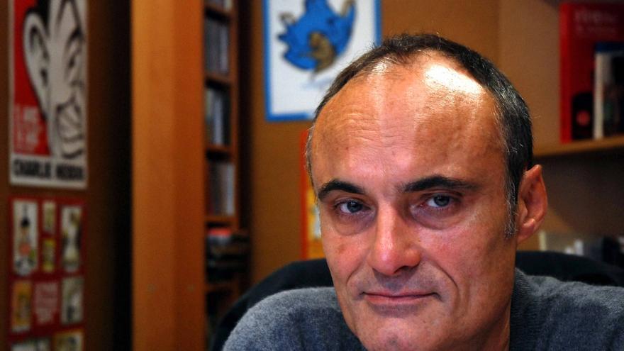 Philippe Val estuvo 17 años dirigiendo el Charlie Hebdo. Foto: Salvador Martínez.