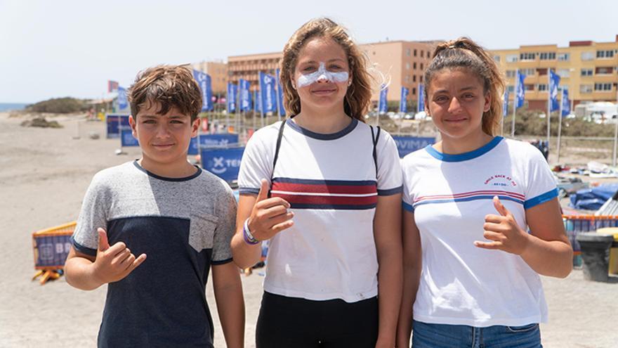 Los competidores de base ya tuvieron ocasión de mostrar sus cualidades en El Médano, no así los mayores debido a la falta de viento.