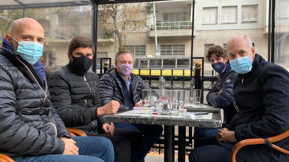 Aliados: Larreta y Lousteau, junto a Yacobitti y dos radicales de Santa Fe