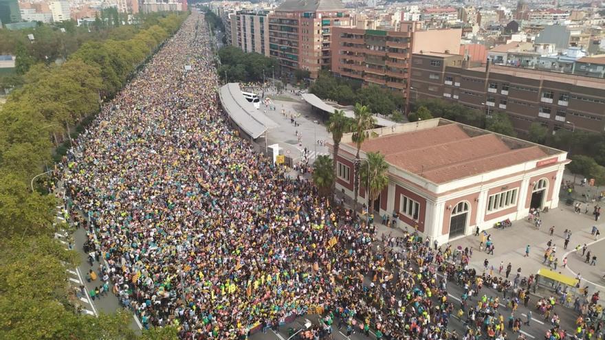 Las 'marchas de la libertad' de la ANC y Òmnium llegan a Barcelona