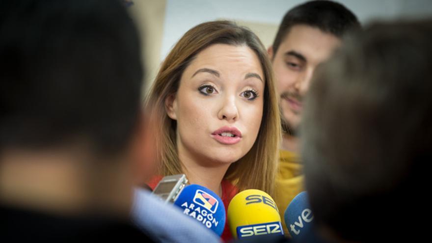 La candidata de Podemos-Equo a la Presidencia de Aragón, Maru Díaz, en una imagen de archivo