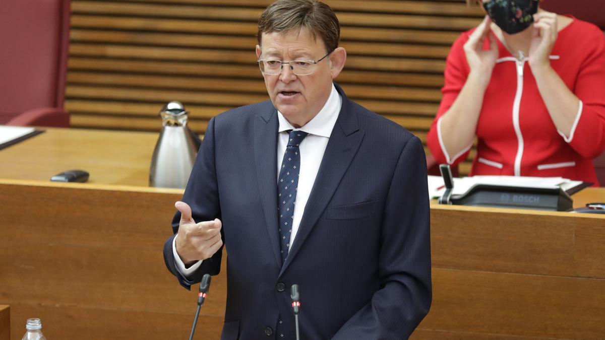 Ximo Puig durante su intervención en el debate de política general de 2020.