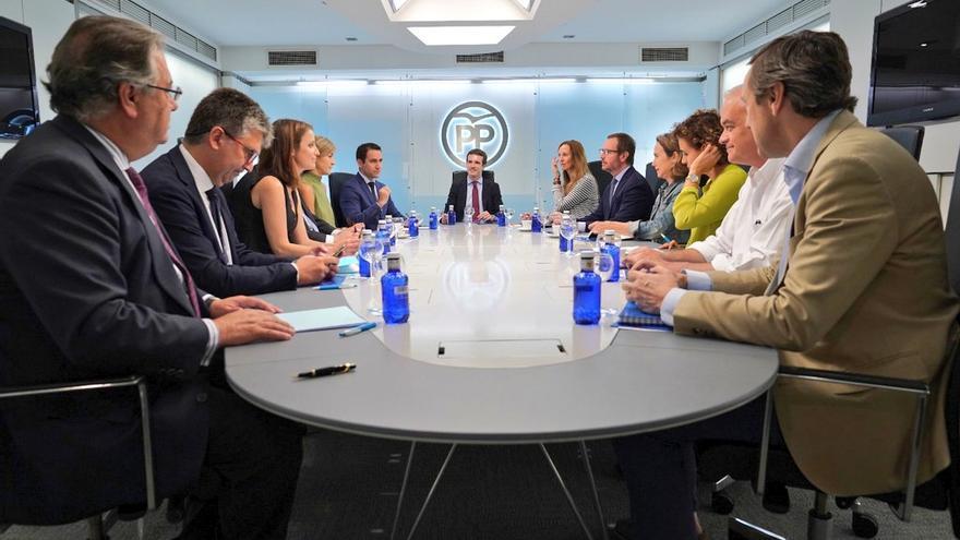 Reunión del Comité de Dirección del PP, este lunes.