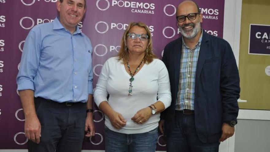 Fernando Sabaté, Meri Pita y Juan Manuel Brito (CANARIAS AHORA)