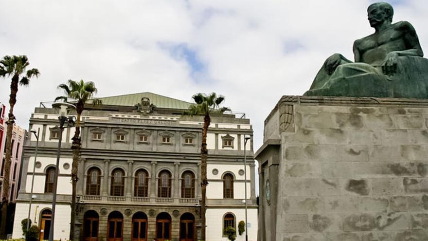 Fachada principal del Teatro Pérez Galdós de Las Palmas de Gran Canaria.