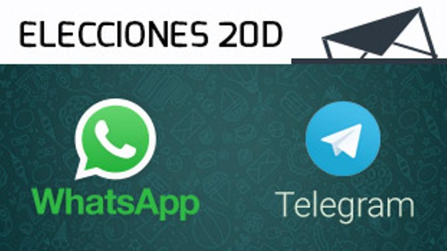 Las elecciones generales en Whatsapp o Telegram