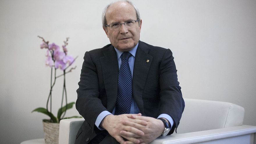 José Montilla, en su oficina de expresident en 2018.