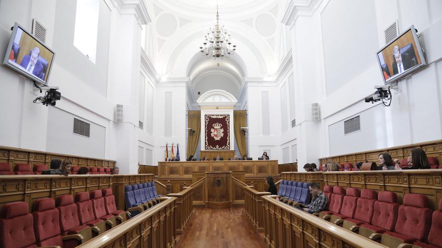 Un momento del pleno de las Cortes de Castilla-La Mancha el 21 de febrero de 2019