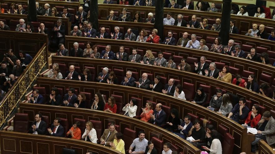 Imagen de archivo de los representantes del PSOE en el Congreso de los Diputados.