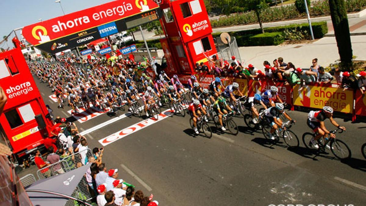 Final de una etapa de la Vuelta a España en Córdoba