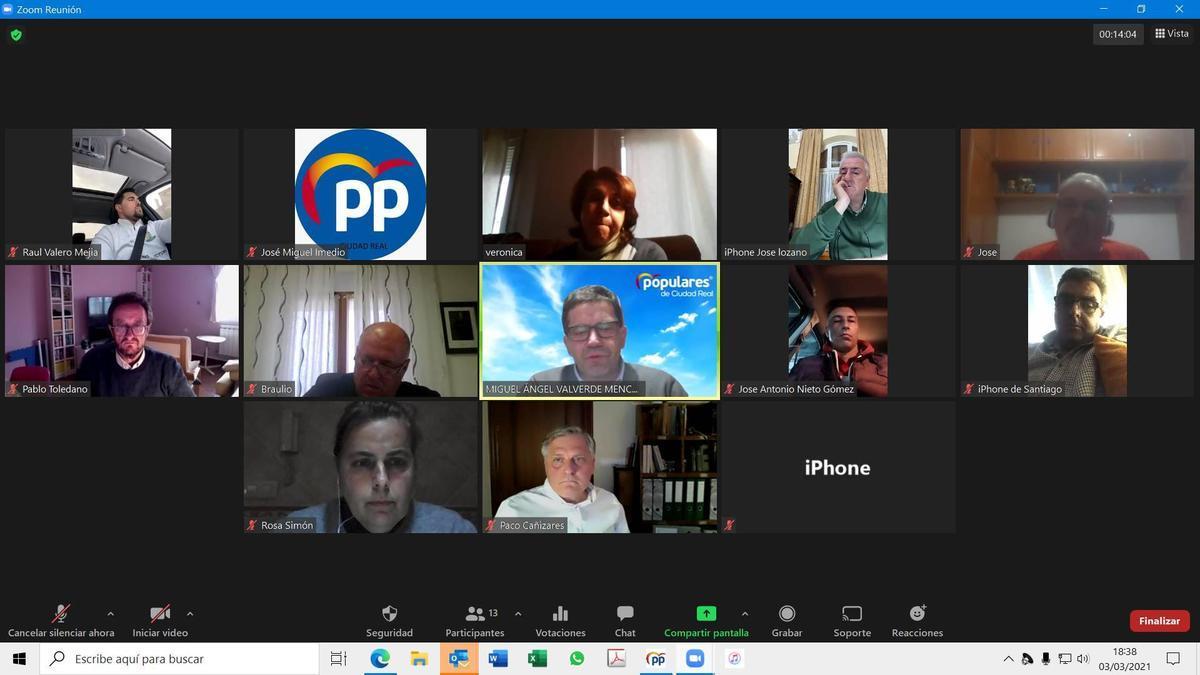 Reunión de alcaldes, portavoces y presidentes del PP en Ciudad Real