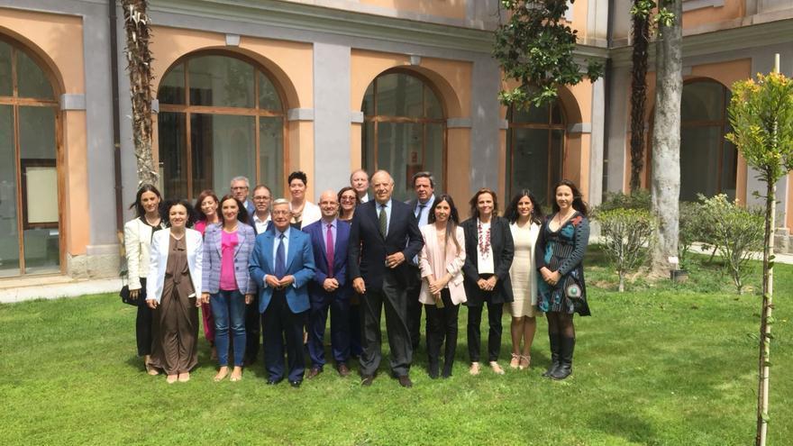 Miembros de la Academia de Cultura Gastronómica de Castilla-La Mancha que cumple un año