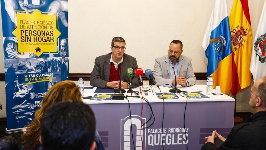 Javier Doreste y Jacinto Ortega, en la presentación del plan.