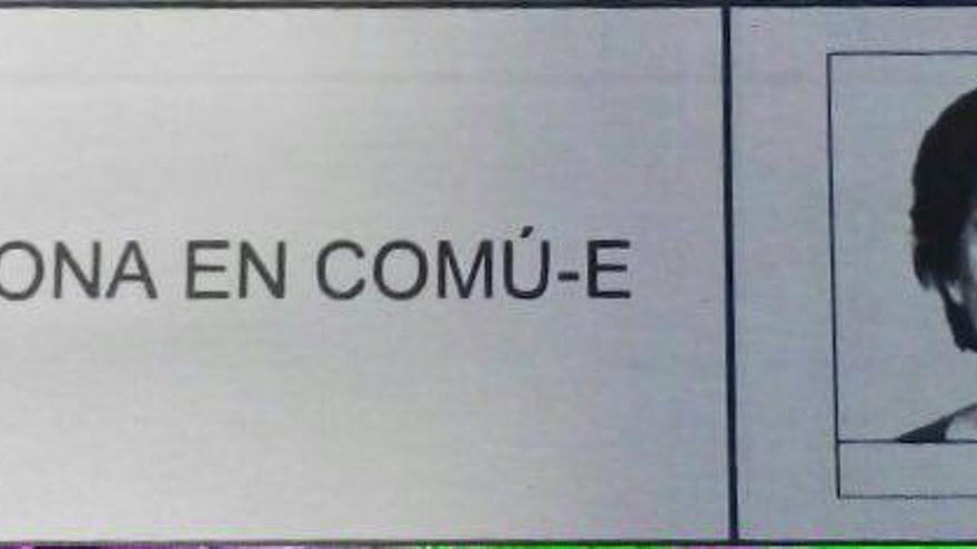 Así será la papeleta de Barcelona en Comú en las municipales