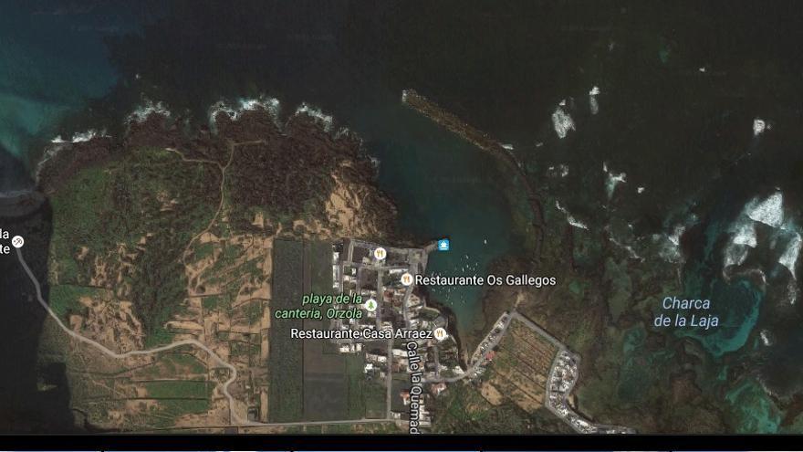 Zona de Órzola, en Haría (Google maps)