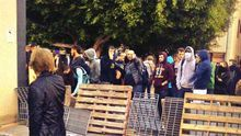 La presencia de los piquetes en las universidades marca el comienzo de la huelga en Enseñanza