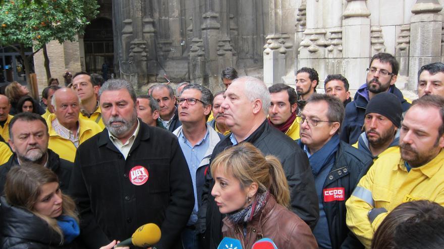 """Castilla y Carbonero subrayan el regreso de la """"unión sindical"""" ante la """"lucha ejemplar"""" de la plantilla de Amaya"""