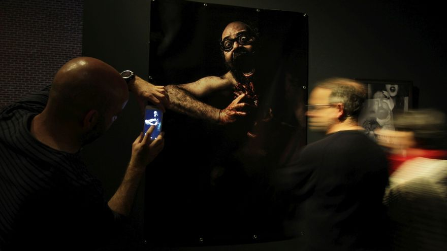 Una de las obras de la exposición Haciendo Barrio en una edición anterior   SOMOS MALASAÑA
